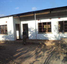 Outside view of the rehabilitated Learning Centre in Mambwe