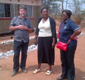 Chipo (Zulu, PAF EA) with Gary of UCC at Chipo Primary School