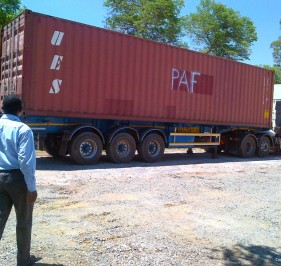 Receiving the PAF container